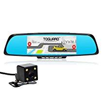 【特価】Toguard ドライブレコーダー 7インチルームミラー型 WiFi対応 1080P フルHD 高画質 前後カメラ 常時録画 Gセンサー GPSナビゲーション  日本国内永久保証  15,263円【スポーツ/カー用品/アウトドア】