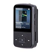 【特価】 AGPTEK Bluetooth搭載 クリップ 8GB MP3プレーヤー 音楽/FMラジオ イヤホン/防汗カバー付属 運動 マイクロSDカード64GBに対応 ブラック 3,058円【オーディオ/音楽】