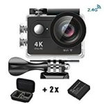 【特価】 Daping カメラ 4K アクションカメラ ウェアラブルカメラ 水中カメラ 30m防水 4K 1080P 1200万画素 WIFI対応 アクセサリー付 4,488円【デジタルビデオカメラ】