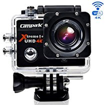 【特価】 Campark 4K アクションカメラ WIFI対応 30M防水170度超広角レンズアクションカメラ 2インチ画面 バイクや自転車、カートや車に取り付け可能 4k動画対応 ドライブレコーダーとして使用可能 二つバッテリーを付き 5,499 円【デジタルビデオカメラ】