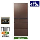 Panasonic 6ドア冷蔵庫(470L) NR-F472XPV-T 128,000円 【ノジマオンライン・Nojima】