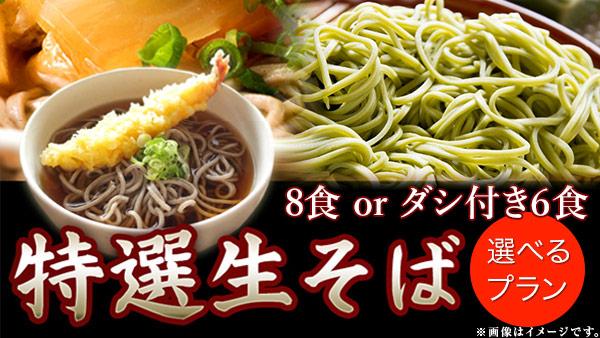 生そば麺のみ 8食 or ダシ付き6食 500円 送料無料【楽天買うクーポン・RaCoupon】