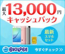 【BIGLOBE】WiMAX 2+、SIM(データ・音声通話)、BIGLOBEスマホ