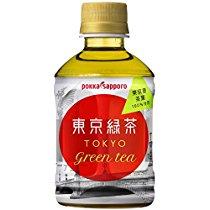【半額クーポン】1本あたり42円 東京産茶葉のみ使用 ポッカサッポロ 東京緑茶 280ml×24本  1,490円【食品・飲料】